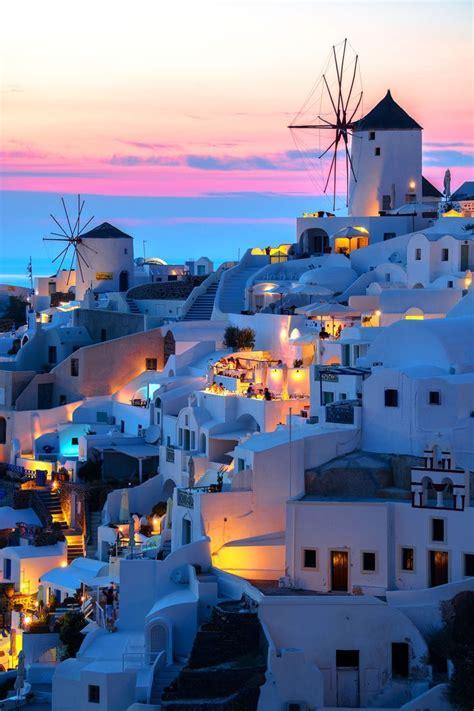 Sunset In Oia Santorini Greece Favorite Places