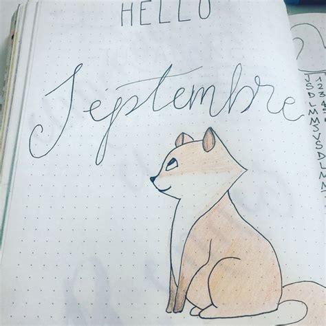 septembre september bujo bullet journal renard fox art