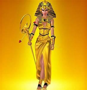 A powerful Egyptian woman stock illustration. Illustration ...