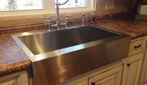 drop in farmhouse kitchen sinks kohler vault drop in farmhouse apron front stainless steel 8834