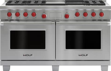 Wolf DF606CG 60 Inch Pro Style Dual Fuel Range with 6 Dual
