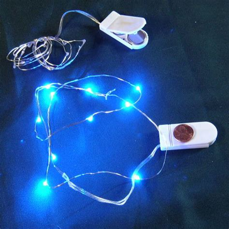 cr2032 battery operated micro led vine light blue micro