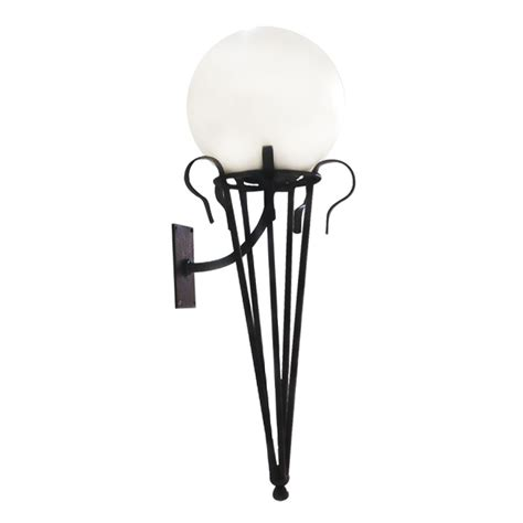 melody wall light with poly sphere top lighting