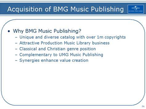 Bmg Publishing by Acquisition Of Bmg Publishingwhy Bmg
