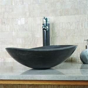 Lavabo En Pierre Naturelle : vasque ovale selona calcaire gris fonc indoor by capri ~ Premium-room.com Idées de Décoration