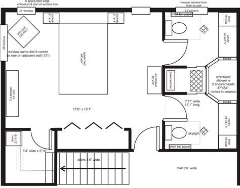 Master Bedroom With Bathroom Floor Plans Master Bedroom Addition Floor Plans His Ensuite Layout Advice Bathrooms Forum