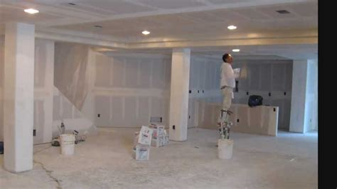 drywalling  basement time lapse basement finish youtube