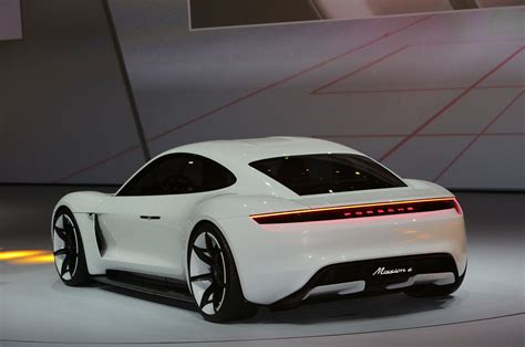 Porsche Mission E Concept Ev Arrives In Frankfurt With 600 Hp