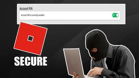 enable account pin  roblox youtube