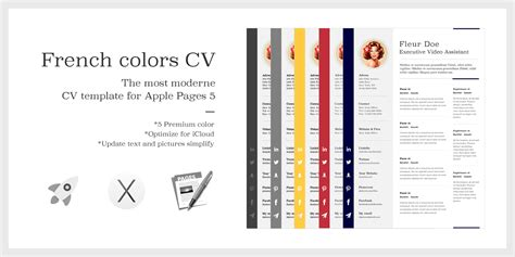 the colors cv resume premium template for apple