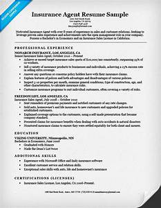 insurance agent resume sample resume companion With insurance resume template