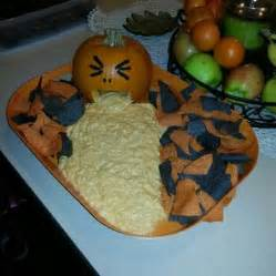 Puking Pumpkin Guacamole Cheese by Halloween Appetizers Recipes Ideas
