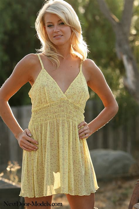 Nothing Is Better Than A See Thru Yellow Dress And A Pretty Blond Girl