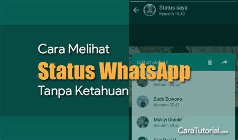 melihat status whatsapp  ketahuan  caranya