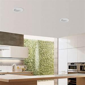 Spot Led Encastrable Plafond Faible Hauteur : spot encastrable son 2 led blanc 4000k 22cm faro ~ Melissatoandfro.com Idées de Décoration