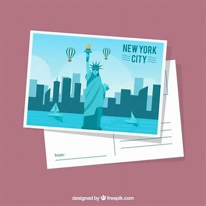 York Postcard Flat Template