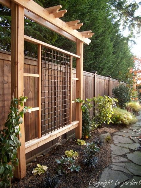 Backyard Privacy Screens Trellis by This Idea For Between Us And The Neighbors Grow