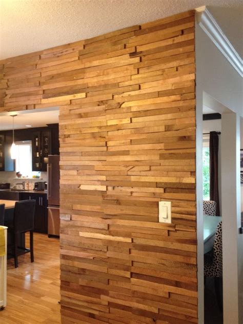 diy cedar shim wall       backsplash
