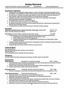 Sample Entry Level Information Technology Resume Health Information Technology Resume Sample Http