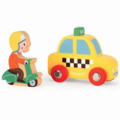 Cab Yellow Scooter Afkomstig Babesta Van