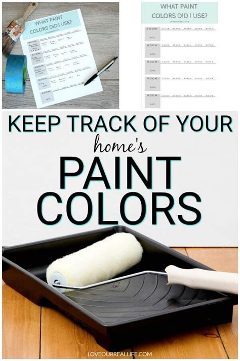 keep track of paint colors in your home with this free printable diy painted furniture