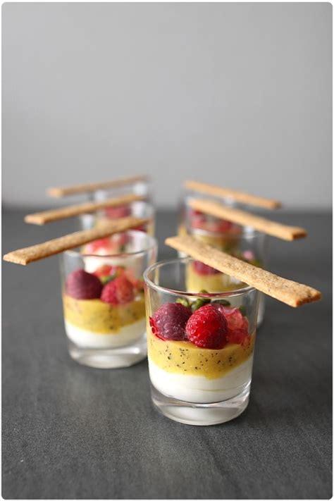 dessert avec fruit de la verrines lact 233 es aux fruits exotiques chefnini