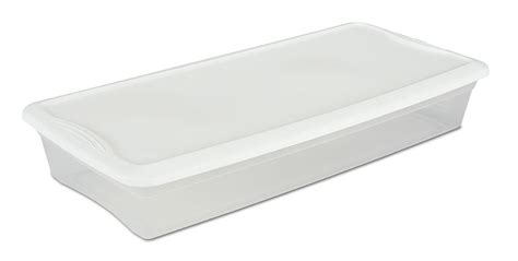 Sterilite Bed Storage by Sterilite 19608006 41 Quart Underbed Box 6 Pack White Lid