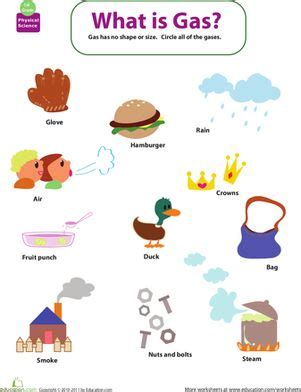 identifying states of gas matter worksheet 66 best images about 1st grade science on