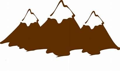 Mountain Clipart Clip Appalachian Brown Peaks Peak