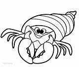 Crab Coloring Hermit Printable Cool2bkids sketch template