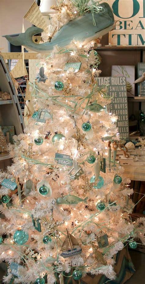beach christmas trees ideas  pinterest