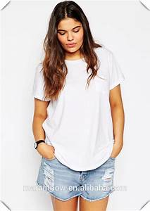 Womens Black Plain Oversized Pocket T Shirt Customized 100 ...