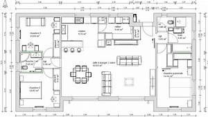 plan maison 4 chambres 130m2 With plan de maison avec 4 chambres