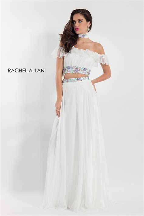 rachel allan   piece prom dress madamebridalcom