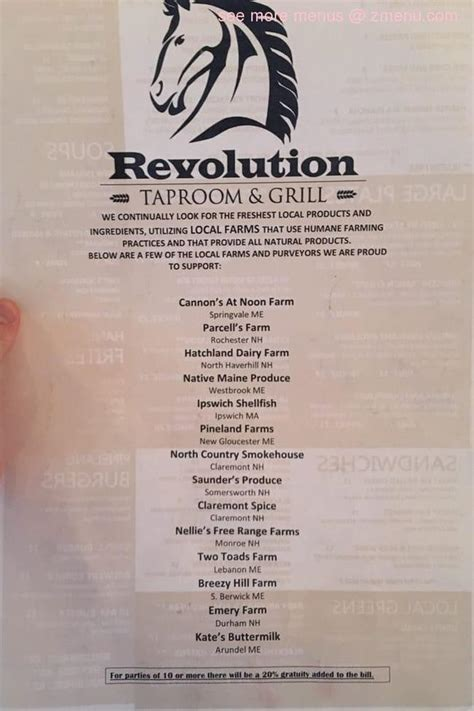 Find & download free graphic resources for coffee menu. Online Menu of Revolution Taproom & Grill Restaurant, Rochester, New Hampshire, 03867 - Zmenu