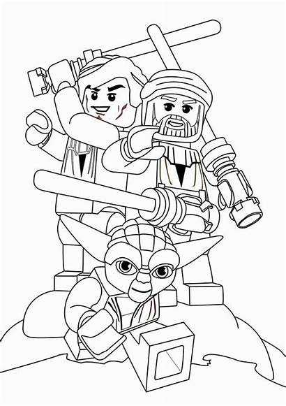 Coloring Wars Star Characters Pages Lego Popular