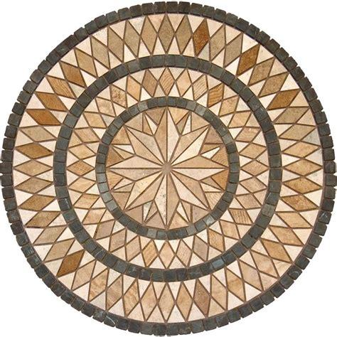 travertine medallion natural stone tile tile the home depot