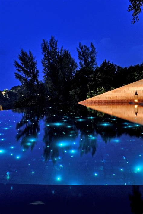 these lights will turn your pool into starry sky