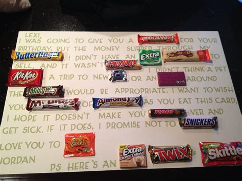 Birthday Gift Ideas For Best Friend Male Made This Candy Card My Friends