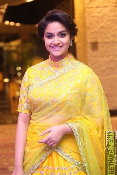 actress keerthi suresh in saree actress keerthy suresh saree hd photos collection gethu
