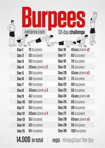 30 Tage Fitness : 30 day burpees challenge workout fitness gym ~ Frokenaadalensverden.com Haus und Dekorationen