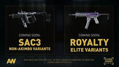 Warfare Advanced Duty Call Variants Weapons Royalty