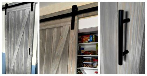 DIY Shiplap Barn Door is a Space Saver for a Narrow Galley