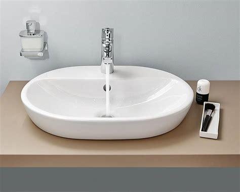 aufsatzwaschbecken oval mit hahnloch frieling waschbecken