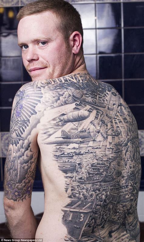 war buff  huge tattoo   day including tanks