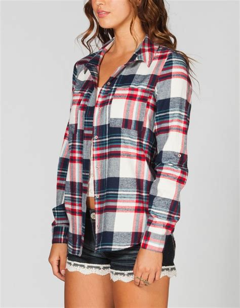 FULL TILT Womens Washed Flannel Shirt. And I have those shorts already!!!!!! | Fashion-ista ...