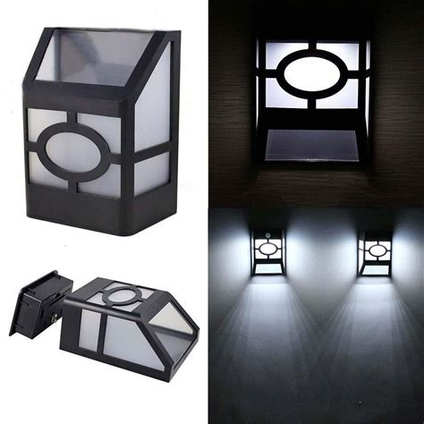 new solar powered wall mount led light garden path outdoor