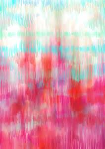 Coral Color Abstract Art