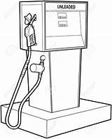 Gas Pump Drawing Petrol Getdrawings sketch template