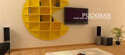 Pac Manpuck Man Videogame Bookcase From Gineprodesign